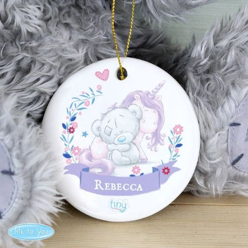 Tiny Tatty Teddy Unicorn Round Decoration